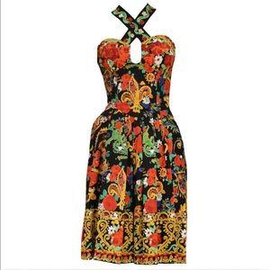 CHRISTIAN LACROIX Luxury Floral Vintage Dress